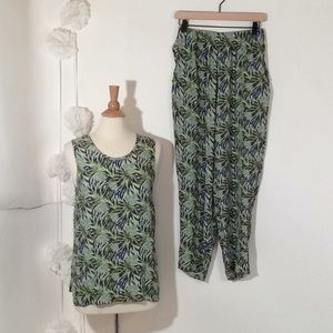 FLAX by Jeanne Engelhart Tank Top and Pants Set S